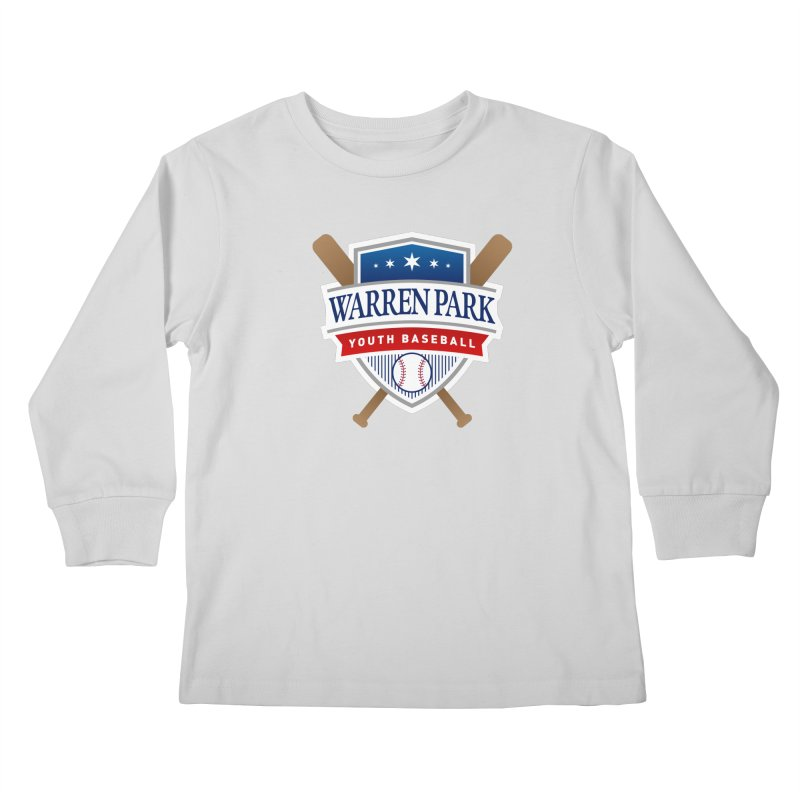 Warren Park Youth Baseball Logo - Full Color Kids Longsleeve T-Shirt by Warren Park Youth Baseball, Rogers Park Chicago