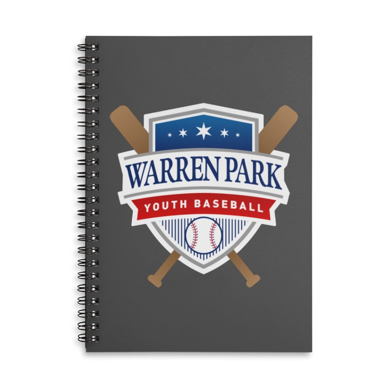 Warren Park Youth Baseball Logo - Full Color Accessories Lined Spiral Notebook by Warren Park Youth Baseball, Rogers Park Chicago