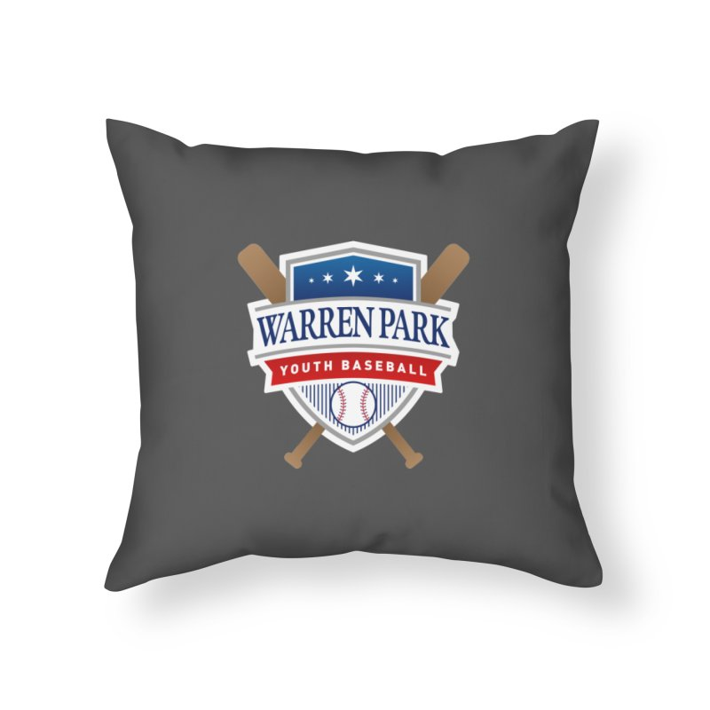 Warren Park Youth Baseball Logo - Full Color Home Throw Pillow by Warren Park Youth Baseball, Rogers Park Chicago