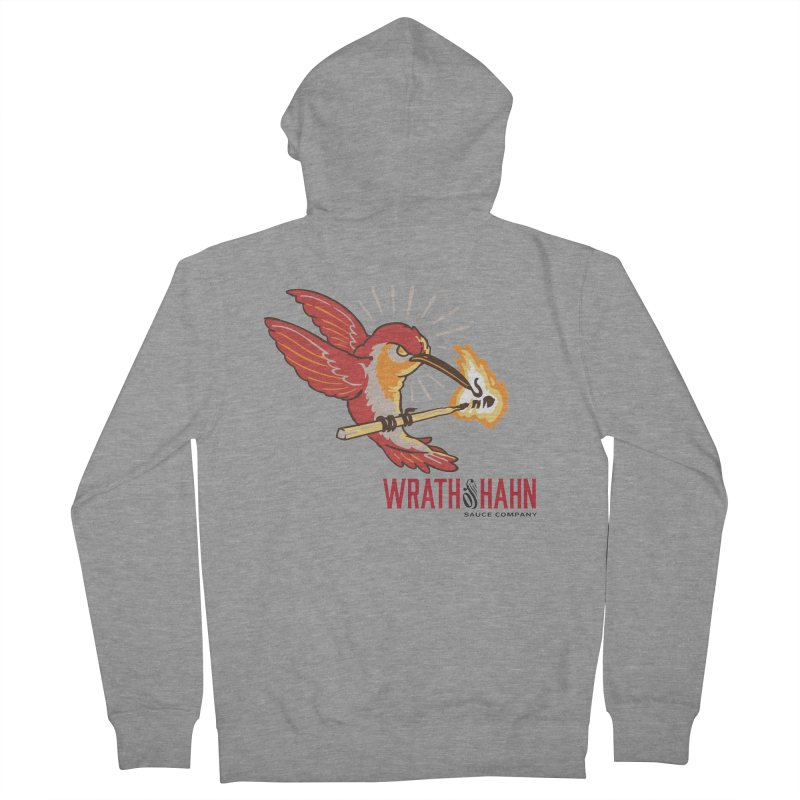 Hot Hummingbird Men's French Terry Zip-Up Hoody by wrathofhahn's Artist Shop