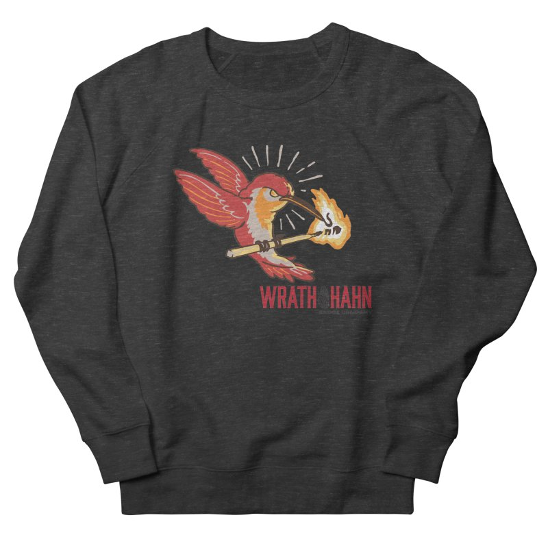 Hot Hummingbird Men's French Terry Sweatshirt by wrathofhahn's Artist Shop
