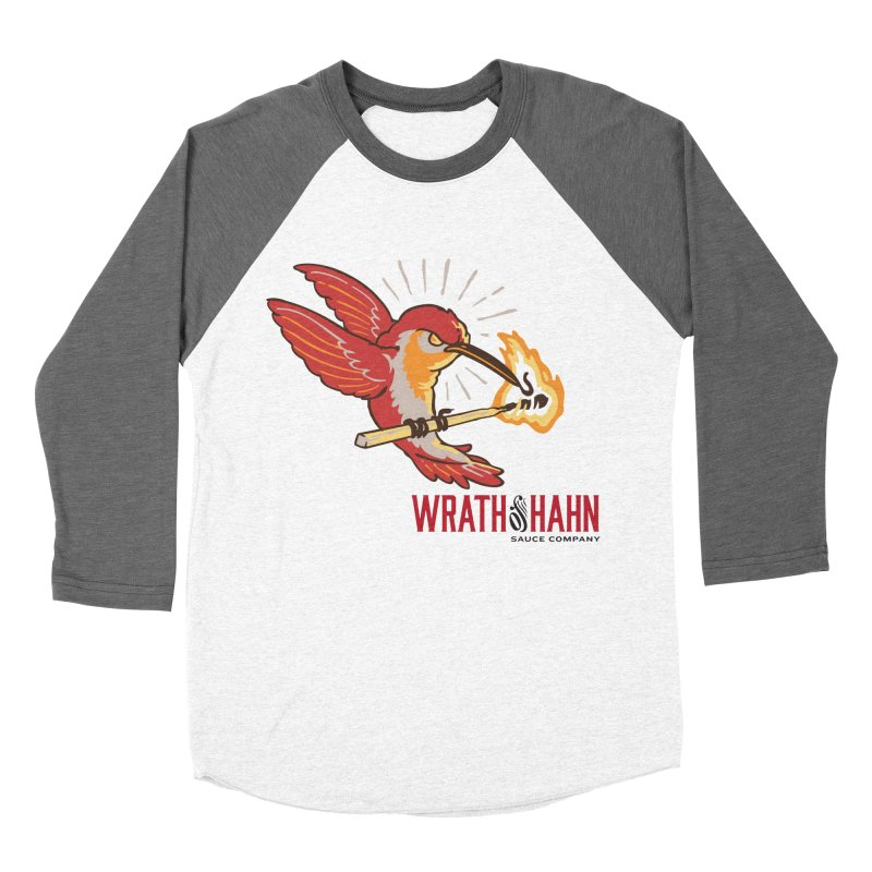 Hot Hummingbird Men's Baseball Triblend Longsleeve T-Shirt by wrathofhahn's Artist Shop