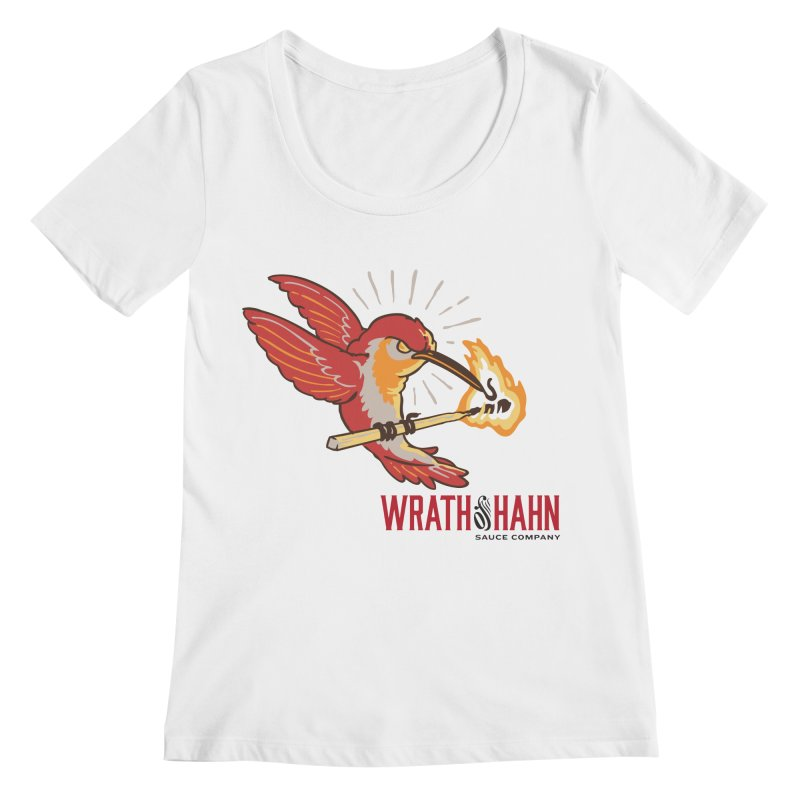 Hot Hummingbird Women's Scoopneck by wrathofhahn's Artist Shop