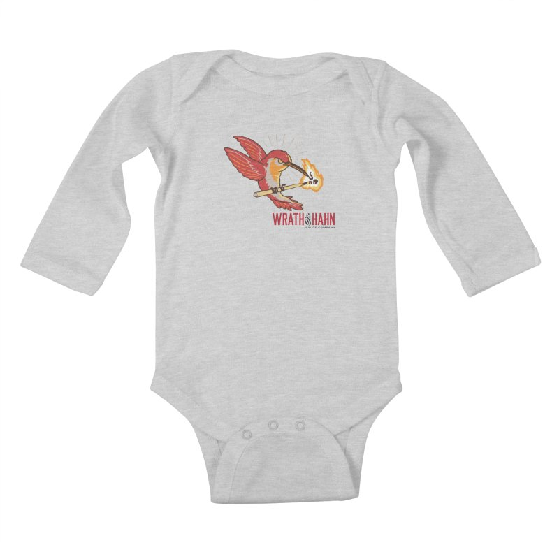 Hot Hummingbird Kids Baby Longsleeve Bodysuit by wrathofhahn's Artist Shop