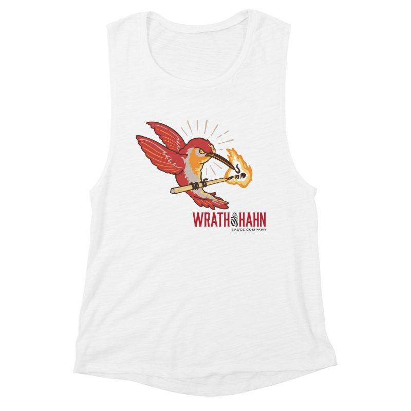 Hot Hummingbird Women's Muscle Tank by wrathofhahn's Artist Shop