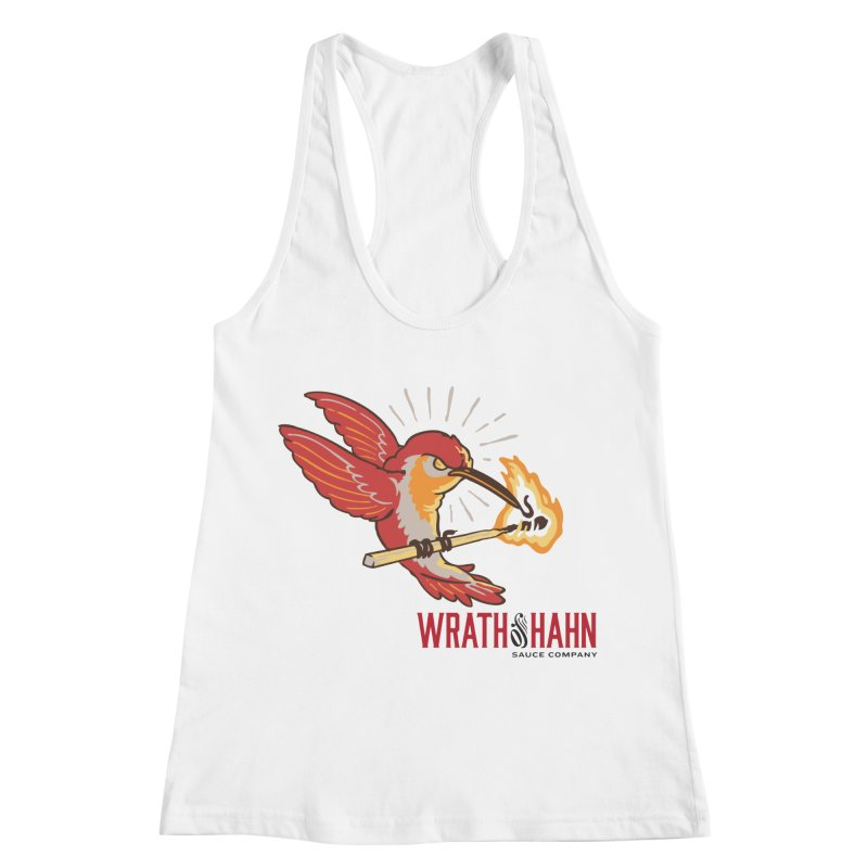 Hot Hummingbird Women's Racerback Tank by wrathofhahn's Artist Shop
