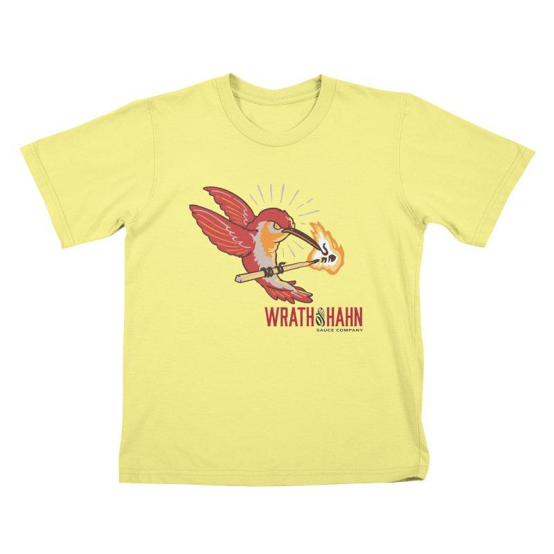Hot Hummingbird Kids T-shirt by wrathofhahn's Artist Shop