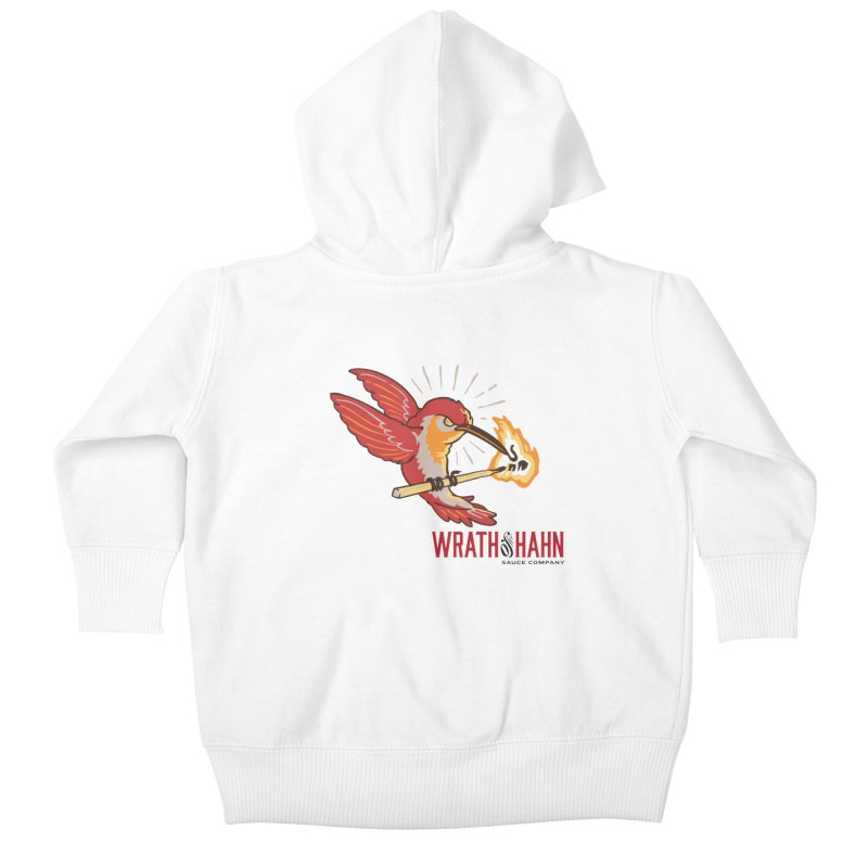Hot Hummingbird Kids Baby Zip-Up Hoody by wrathofhahn's Artist Shop