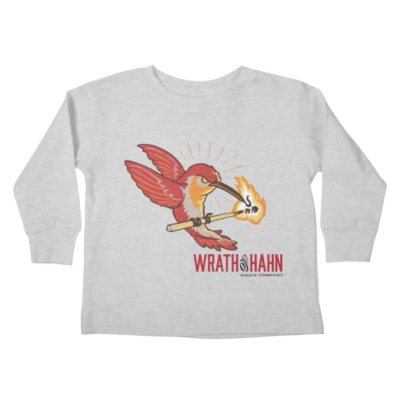 Hot Hummingbird Kids Toddler Longsleeve T-Shirt by wrathofhahn's Artist Shop