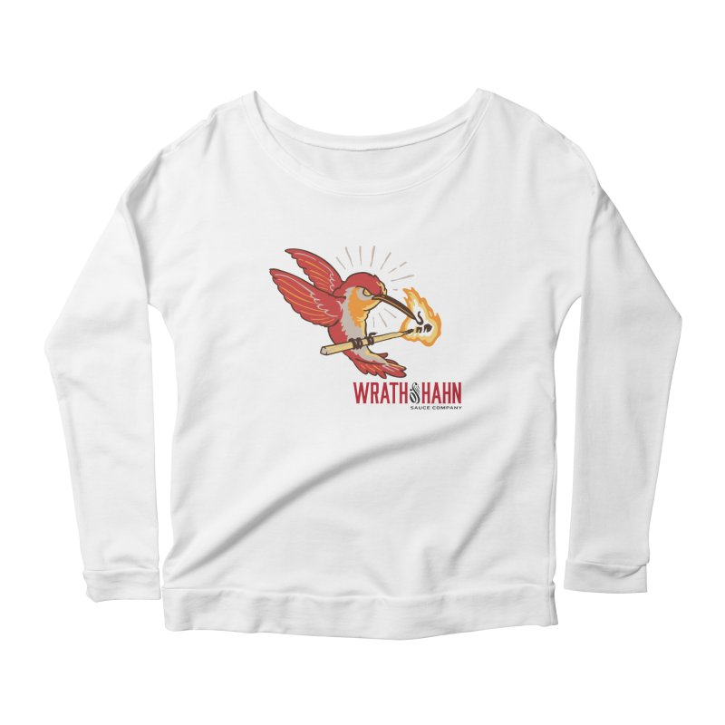 Hot Hummingbird Women's Scoop Neck Longsleeve T-Shirt by wrathofhahn's Artist Shop