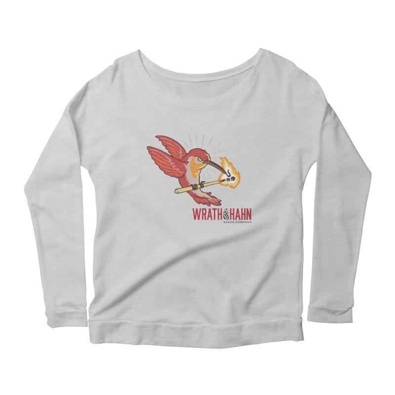 Hot Hummingbird Women's Scoop Neck Longsleeve T-Shirt by wrathofhahn's Artist Shop