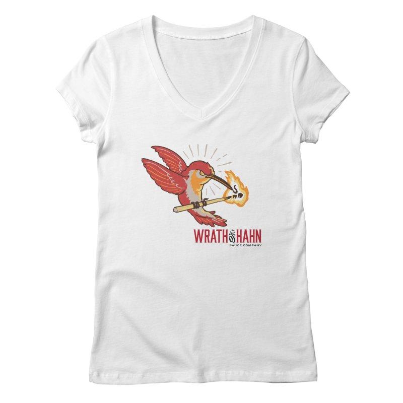Hot Hummingbird Women's V-Neck by wrathofhahn's Artist Shop