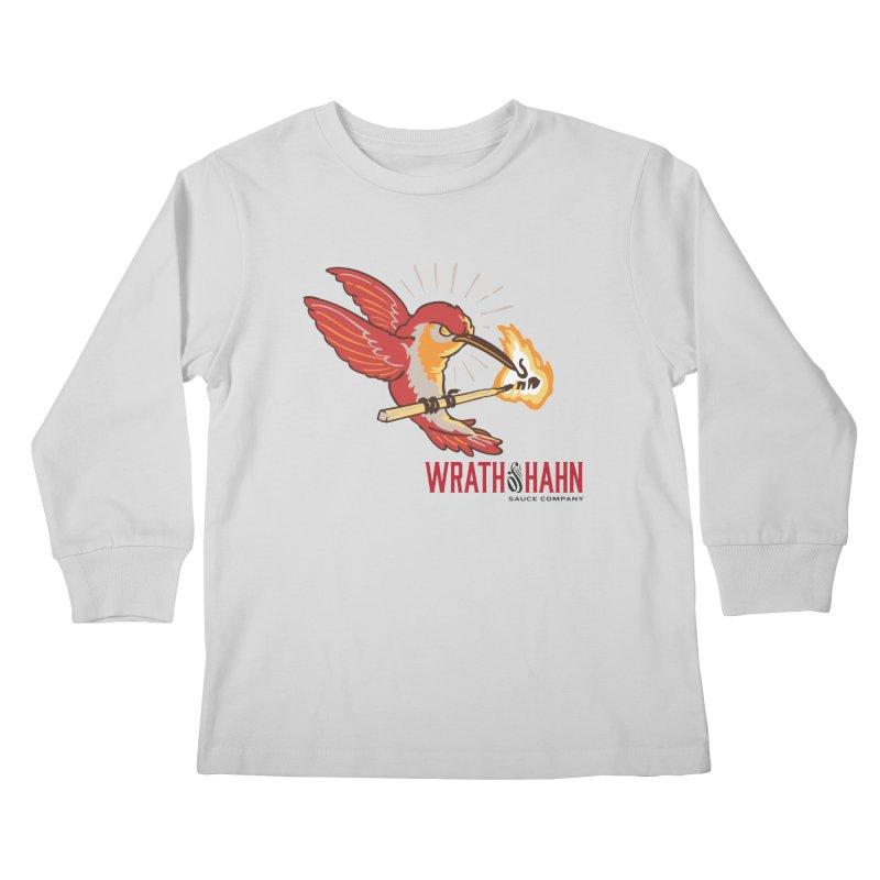 Hot Hummingbird Kids Longsleeve T-Shirt by wrathofhahn's Artist Shop