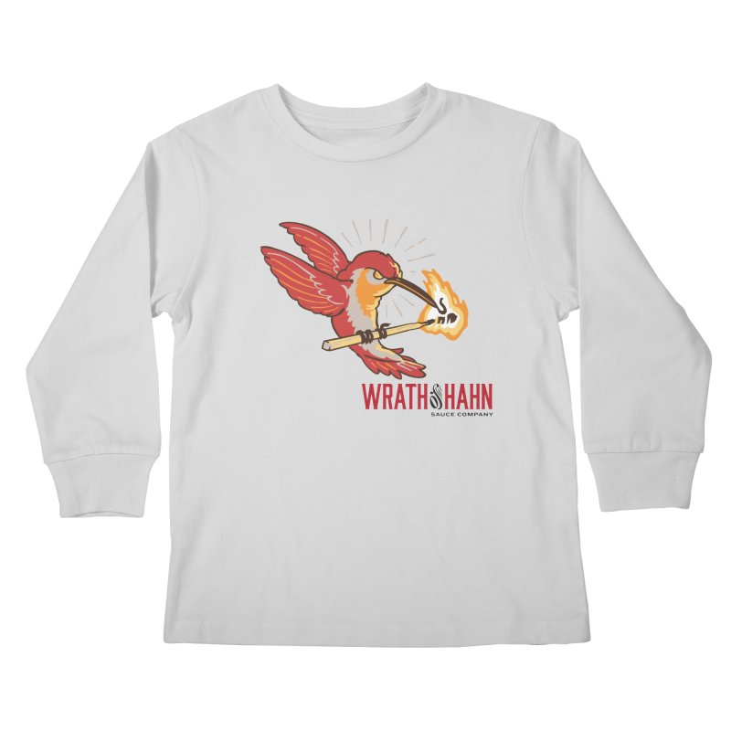 Hot Hummingbird Kids Longsleeve T-Shirt by wrathofhahn's Artist Shop