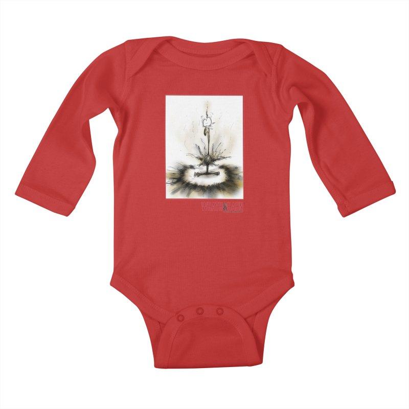 KaboomBirdie Kids Baby Longsleeve Bodysuit by wrathofhahn's Artist Shop