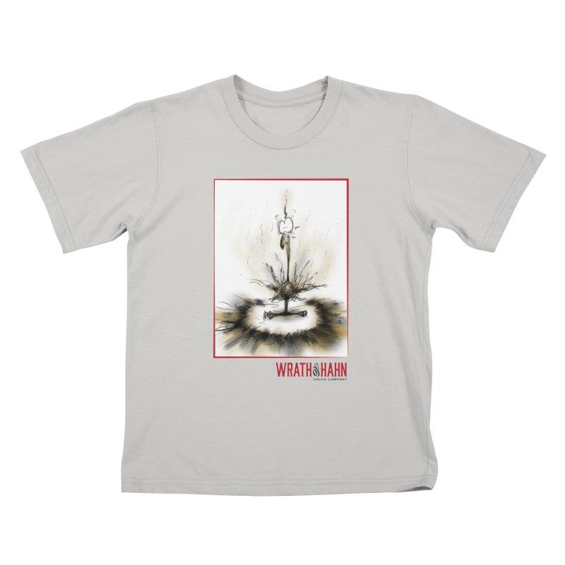 KaboomBirdie Kids T-Shirt by wrathofhahn's Artist Shop