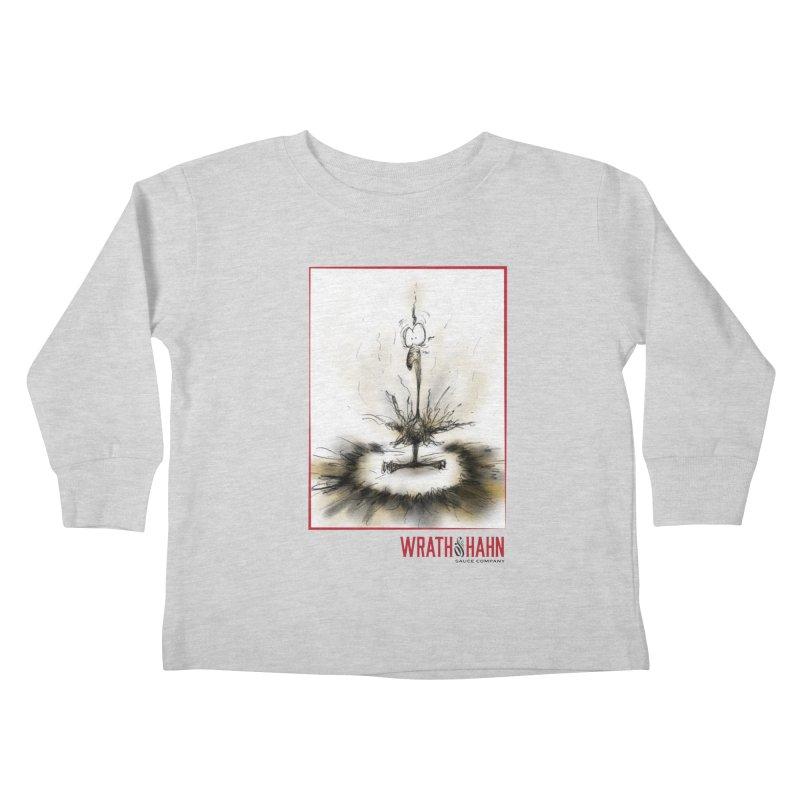 KaboomBirdie Kids Toddler Longsleeve T-Shirt by wrathofhahn's Artist Shop