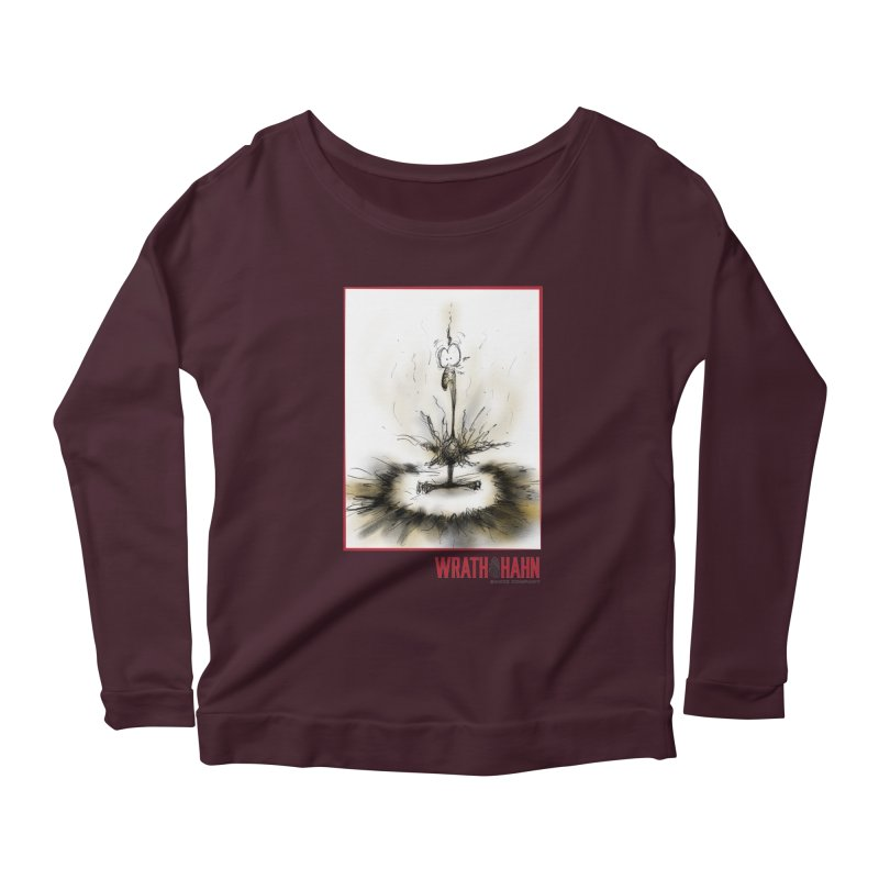 KaboomBirdie Women's Scoop Neck Longsleeve T-Shirt by wrathofhahn's Artist Shop