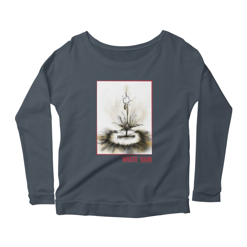 KaboomBirdie Women's Scoop Neck Longsleeve T-Shirt by wrathofhahn's Artist Shop