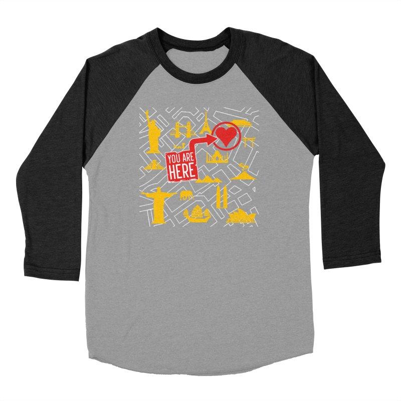 wanderlust Men's Baseball Triblend Longsleeve T-Shirt by wreckenroll's Artist Shop