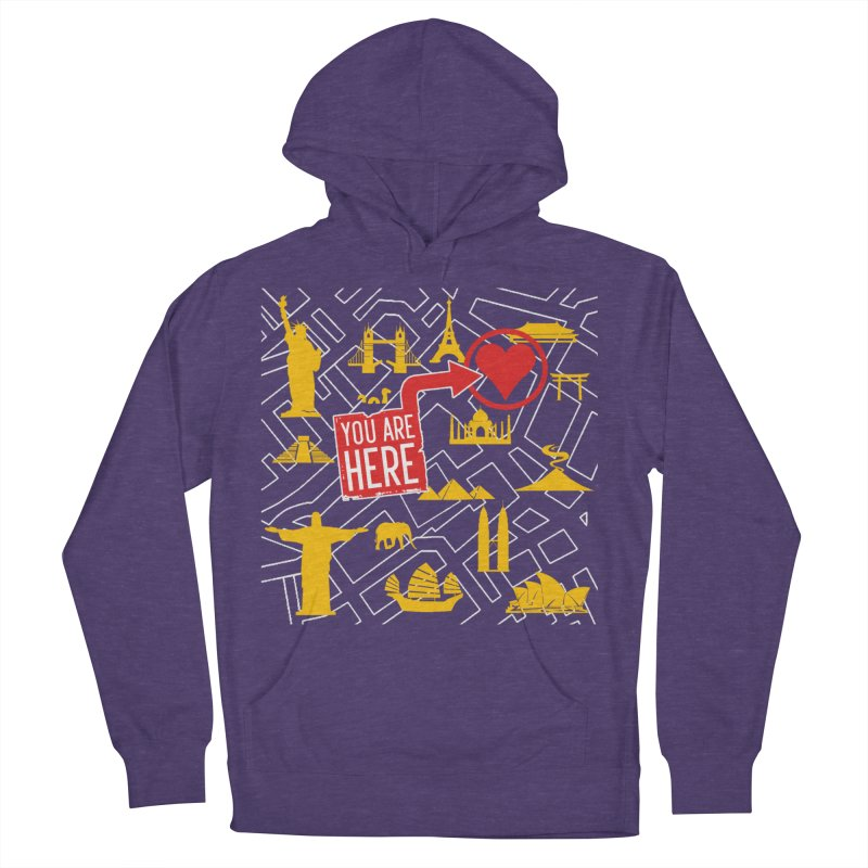 wanderlust Women's French Terry Pullover Hoody by wreckenroll's Artist Shop