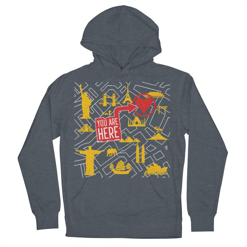 wanderlust Men's French Terry Pullover Hoody by wreckenroll's Artist Shop