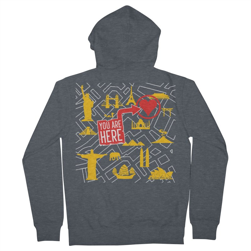 wanderlust Women's French Terry Zip-Up Hoody by wreckenroll's Artist Shop