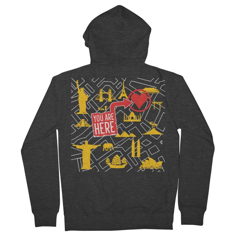 wanderlust Men's French Terry Zip-Up Hoody by wreckenroll's Artist Shop
