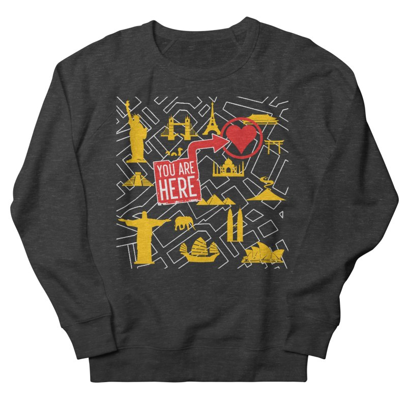 wanderlust Men's French Terry Sweatshirt by wreckenroll's Artist Shop