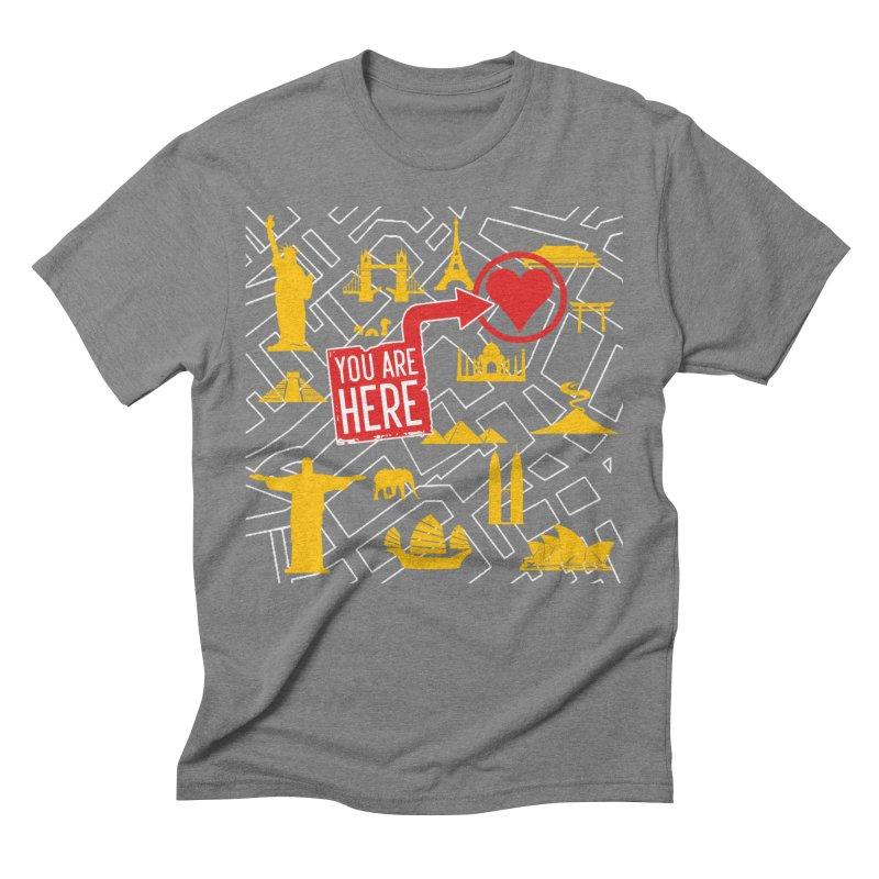 wanderlust Men's Triblend T-Shirt by wreckenroll's Artist Shop