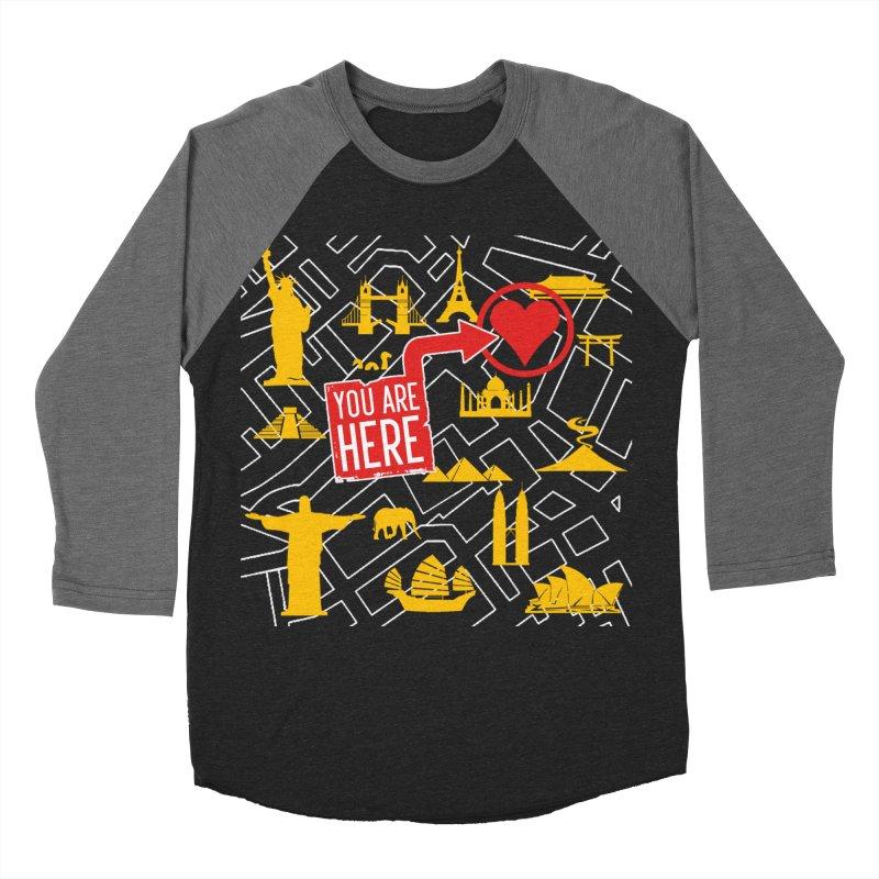 wanderlust Women's Baseball Triblend T-Shirt by wreckenroll's Artist Shop