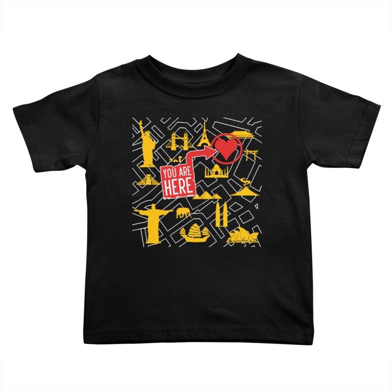 wanderlust Kids Toddler T-Shirt by wreckenroll's Artist Shop