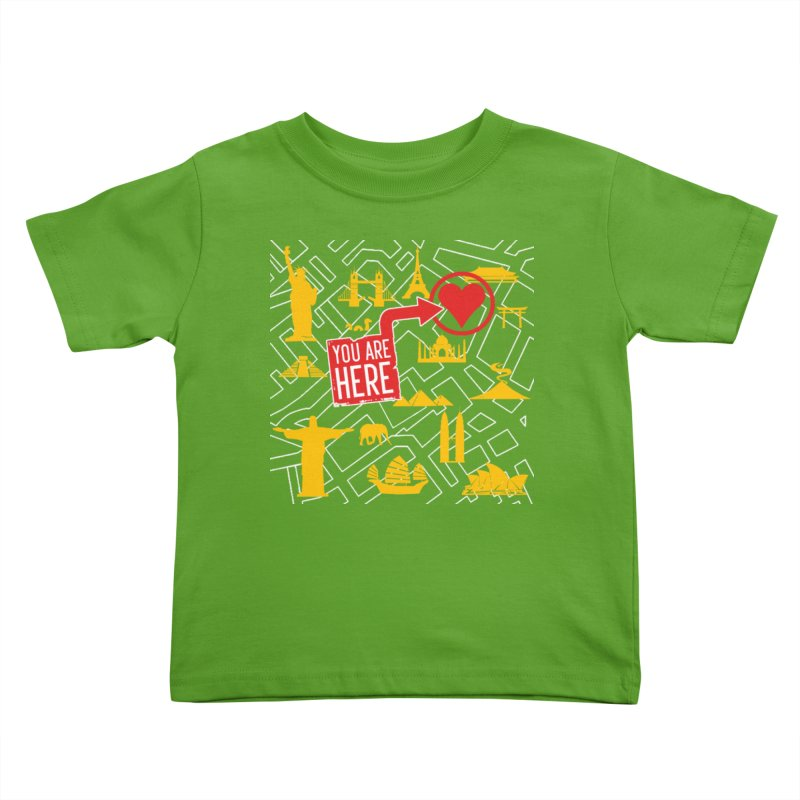 wanderlust Kids Toddler T-Shirt by wreckenroll's Artist Shop
