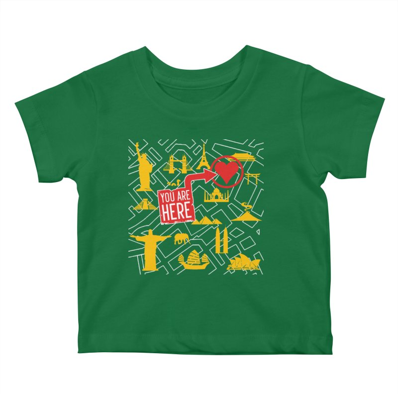 wanderlust Kids Baby T-Shirt by wreckenroll's Artist Shop