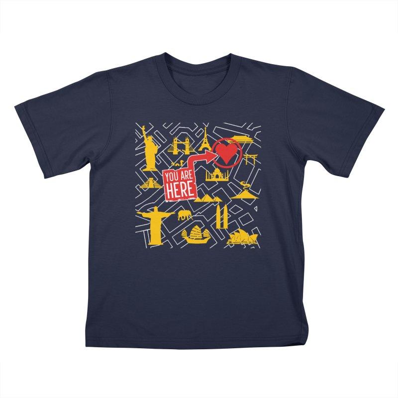 wanderlust Kids T-Shirt by wreckenroll's Artist Shop