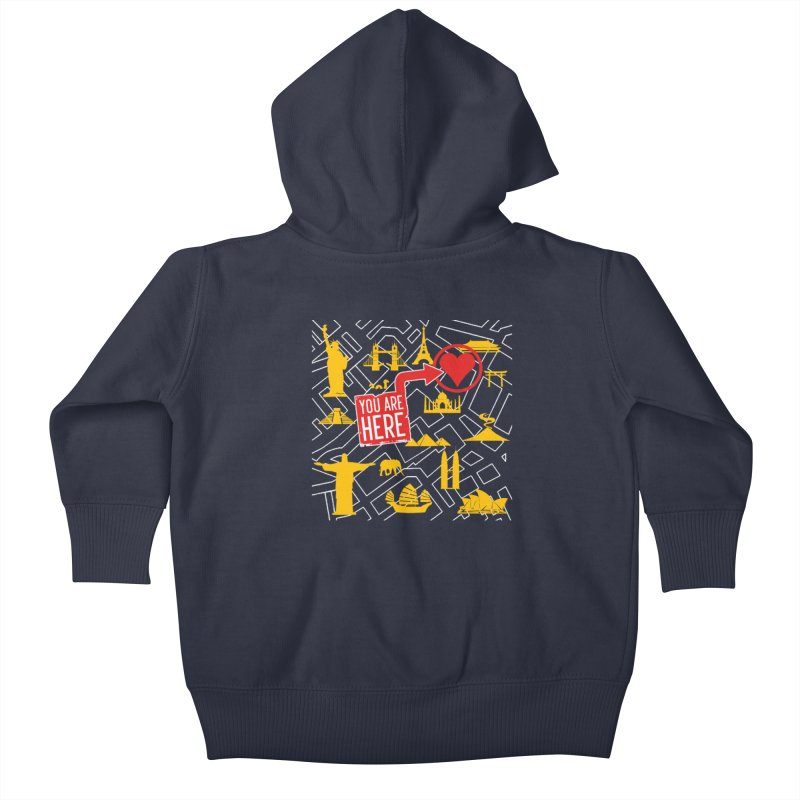 wanderlust Kids Baby Zip-Up Hoody by wreckenroll's Artist Shop