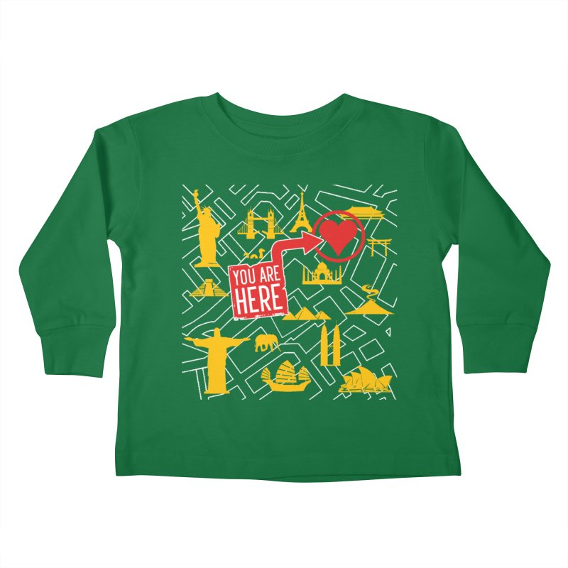 wanderlust Kids Toddler Longsleeve T-Shirt by wreckenroll's Artist Shop