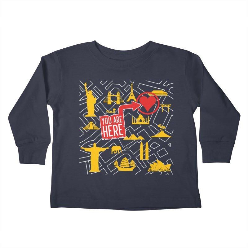 wanderlust Kids Toddler Longsleeve T-Shirt by wreckenroll's Artist Shop