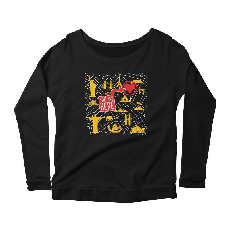 wanderlust Women's Scoop Neck Longsleeve T-Shirt by wreckenroll's Artist Shop