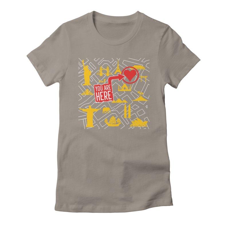 wanderlust Women's Fitted T-Shirt by wreckenroll's Artist Shop