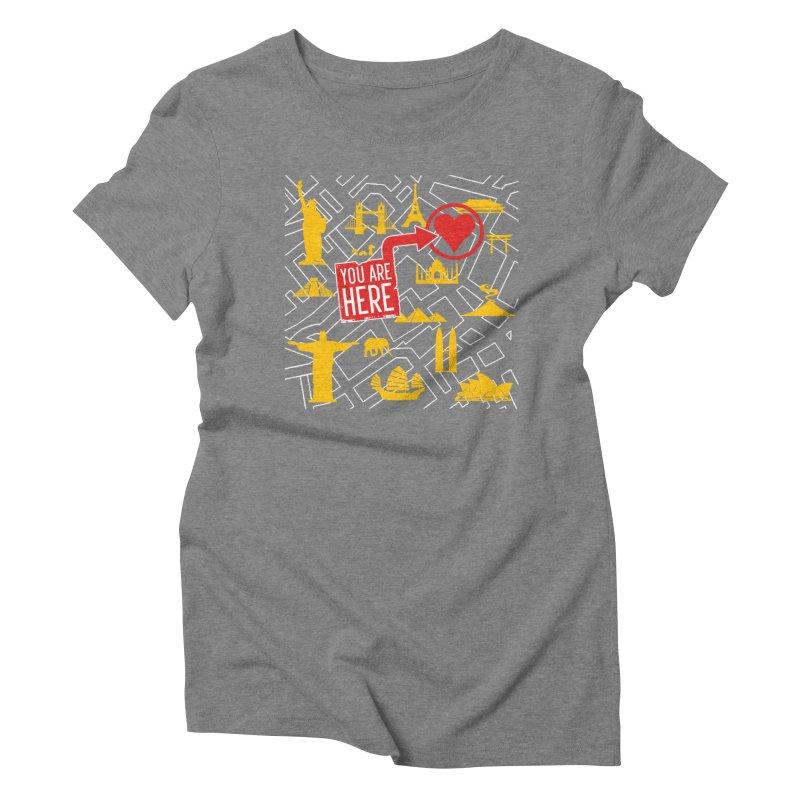 wanderlust Women's Triblend T-Shirt by wreckenroll's Artist Shop