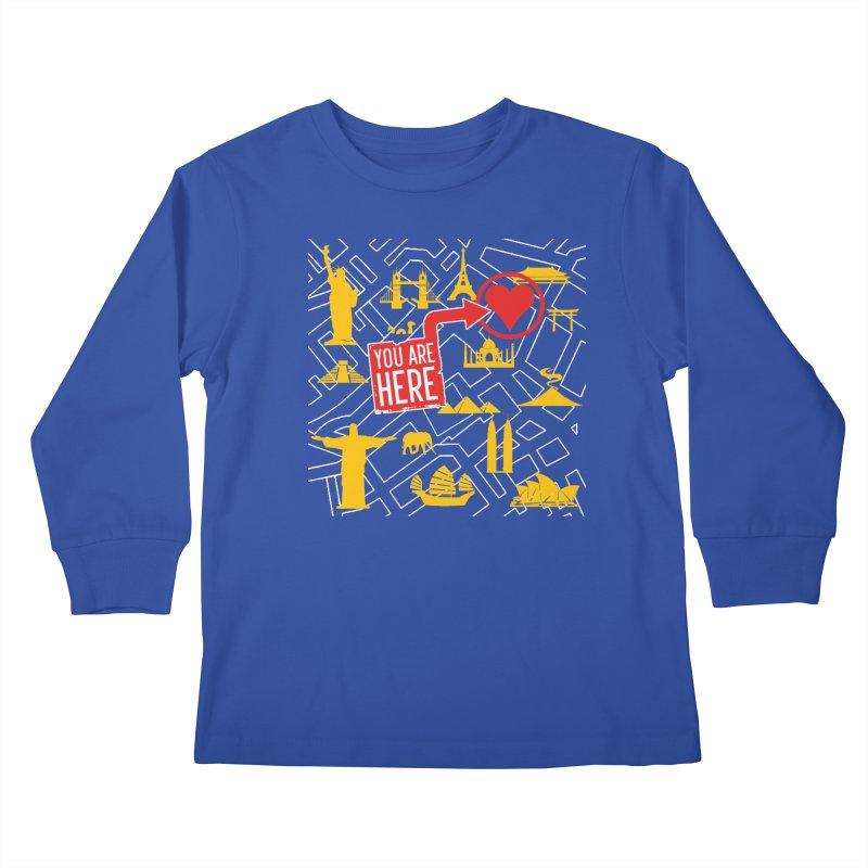 wanderlust Kids Longsleeve T-Shirt by wreckenroll's Artist Shop