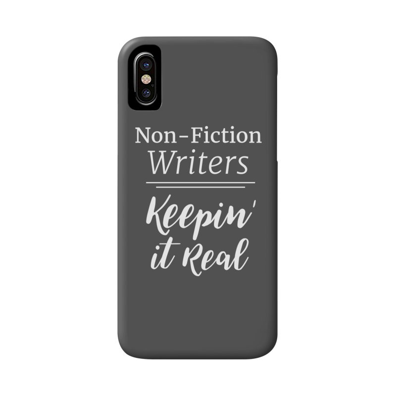 Non-Fiction Writers Keepin' It Real_Square Accessories Phone Case by WritersLife's Artist Shop