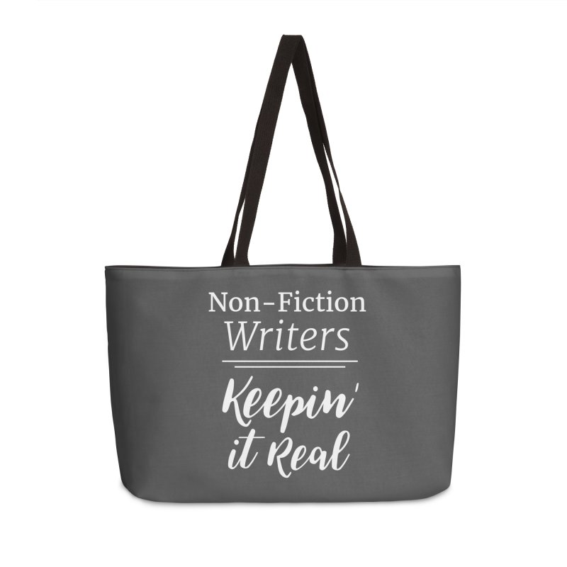 Non-Fiction Writers Keepin' It Real_Square Accessories Bag by WritersLife's Artist Shop