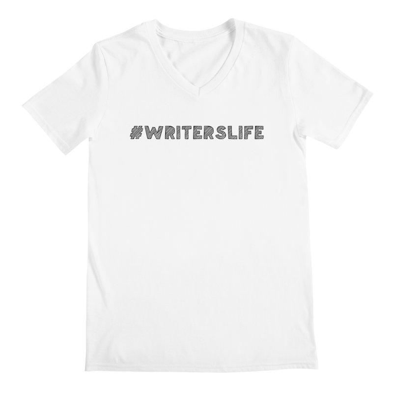 #writerslife sketch Men's V-Neck by WritersLife's Artist Shop