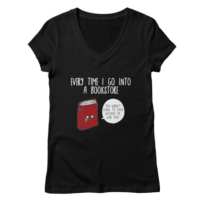 Bookstore Guilt Women's V-Neck by WritersLife's Artist Shop
