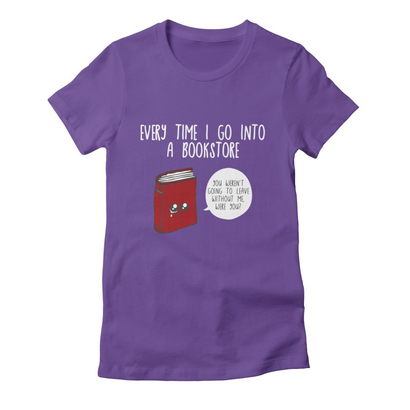 Bookstore Guilt Women's Fitted T-Shirt by WritersLife's Artist Shop