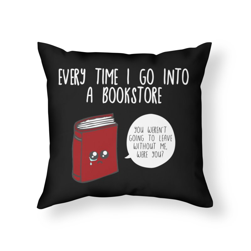 Bookstore Guilt Home Throw Pillow by WritersLife's Artist Shop