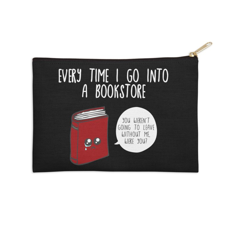 Bookstore Guilt Accessories Zip Pouch by WritersLife's Artist Shop