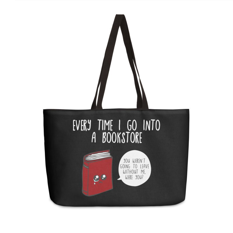 Bookstore Guilt Accessories Weekender Bag Bag by WritersLife's Artist Shop